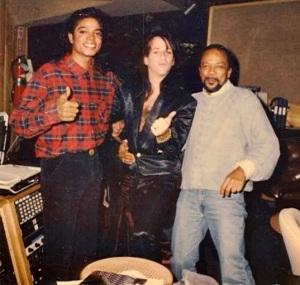 Steve With Michael Jackson and Quincy Jones
