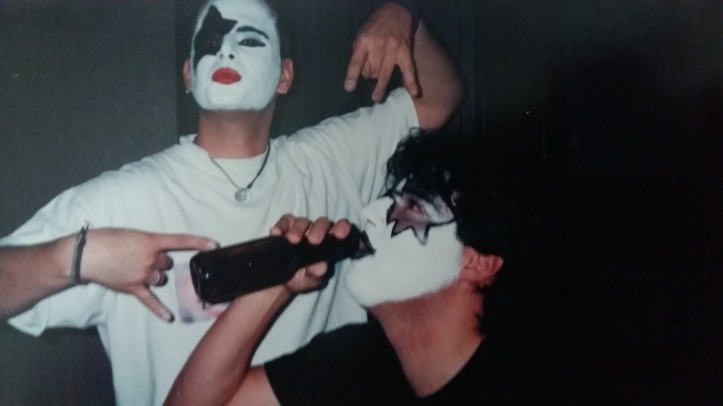 Ken and Luigi getting ready for KISS in Ottawa