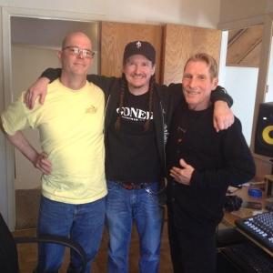 Joecephus (middle) and co-producer Dik LeDoux (left) with Jimmy Henderson (original BOA guitarist)